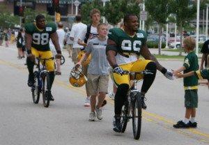 Packers on Kids Bikes